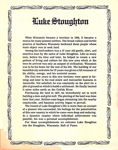 Luke Stoughton is the founder of Stoughton WI
